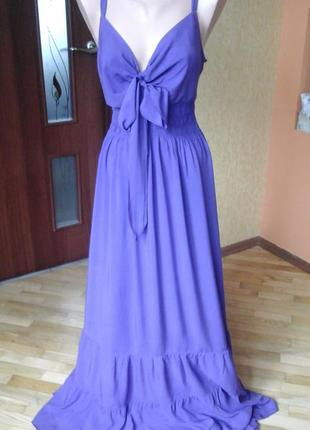Фиолетовое летнее платье фирмы m&s