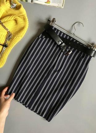 Обалденная юбка в полоску pull&bear