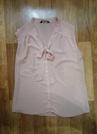 Блуза пудрового нюдового цвета