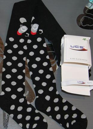 Демисезонные колготы р. 5, 7 панда горохи турция ucs юск