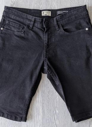Стильные черные шорты джинс made by us @ worn by you! качество американское!