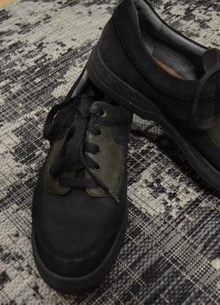 Кожаные мужские осенние туфли mephisto р.46 ( стелька 30 см)
