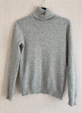 Джемпер свитер водолазка гольф benetton ангора шерсть