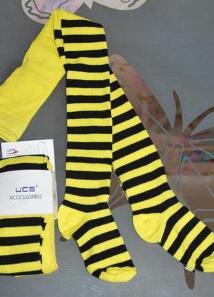 Демисезонные колготы р. 3, 5 полоски пчелка турция ucs юск