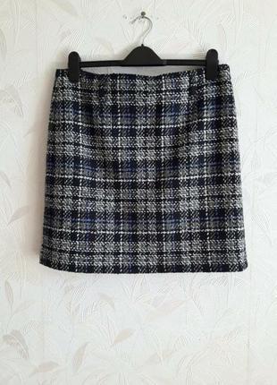 Стильная брендовая юбка, 48-50, шерсть, полиамид, gerry weber