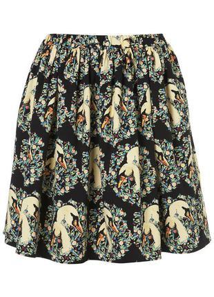 Прикольная юбка с лебедями фирмы topshop