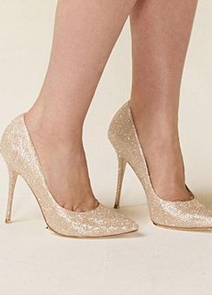 Новые невероятно сверкающие золотые туфли лодочки для принцессы королевы graceland