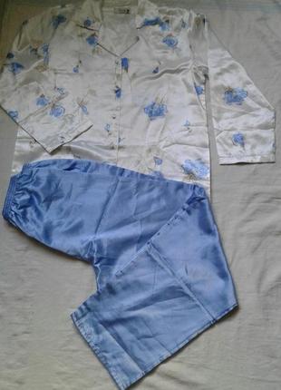 Атласная теплая пижама