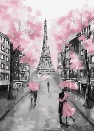 "Картина по номерах ""рожевий париж"""