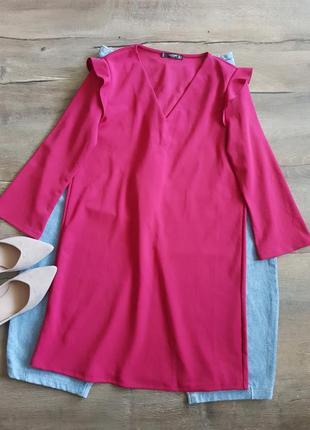 Розовое платье mango,прямого свободного кроя