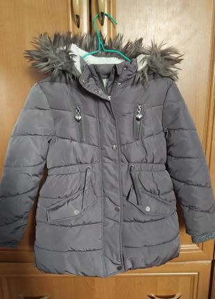 Курточка для девочки зимняя 6-7 лет