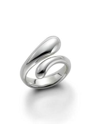🏵️стильное посеребрённое кольцо 925 мода, безразмерное, новое! арт. 516