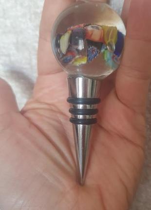 Клаcсная пробка для бутылки с муранским стеклом