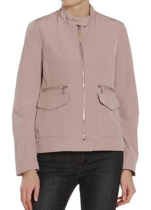 Высокотехнологичная куртка ветровка с дышащей технологией цвета пыльной розы от geox