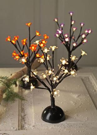 Дерево - гирлянда с led лампочками , ночник , декор. красная