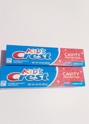 Детская зубная паста crest kid's cavity protection sparkle fun, 130 г