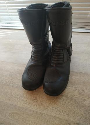 Мотоботы мото ботинки туристические стрит боты weise 38 черный 0064s