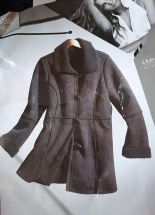 Демисезонная дубленка пальто blue motion коллекция хэлли берри
