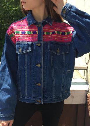 Джинсовка с вишивкой джинсовая куртка