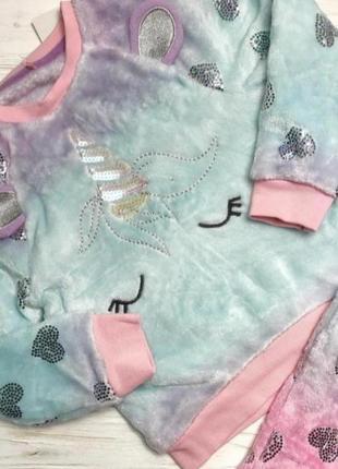 Теплая флисовая пушистая пижамка george