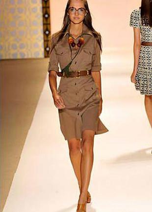 Скидка 20% на обнову. коричневое платье-рубашка в стиле сафари