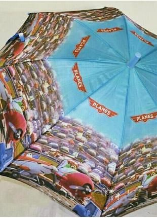 Зонтик для мальчика самолетики літачки дасти 5-9 лет
