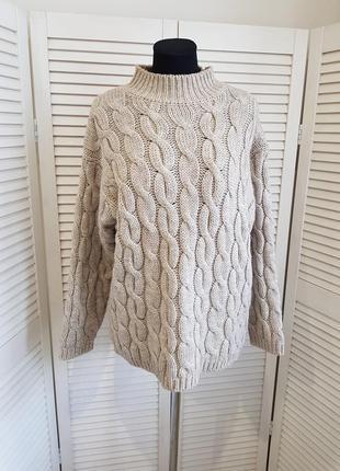 Теплый свитер с косами esprit