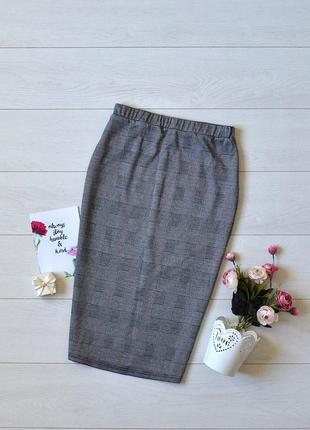Трендова юбка карандаш в клітинку shein