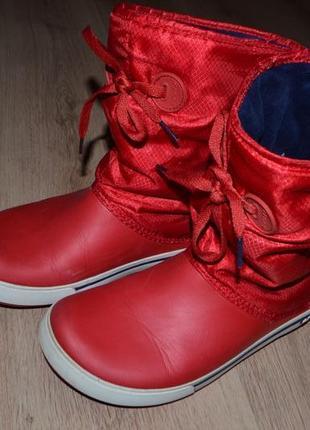 Сапоги crocs crocband winter boot w10 сост отл