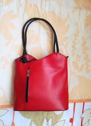 Распродажа кожаная сумка -трансформер-рюкзак florence