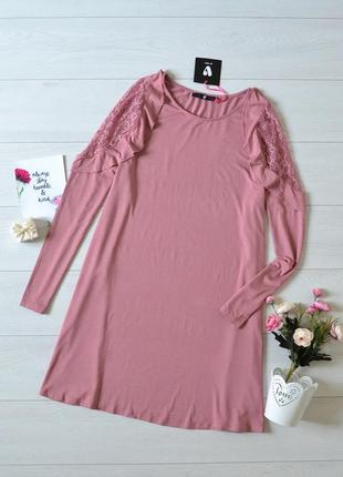 Дуже красиве плаття з вставками кружева вільного крою by very