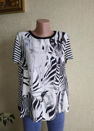 Marc cain оригинальная футболка блуза, шёлк, коттон