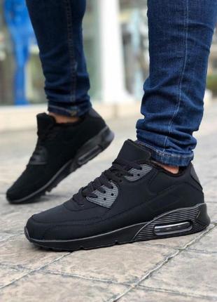 Мужские кроссовки аирмах черные зима