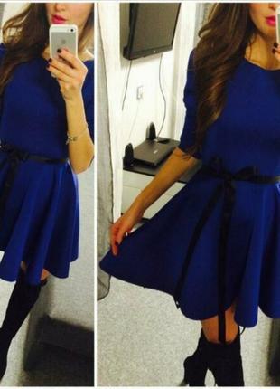 Платье электрик.