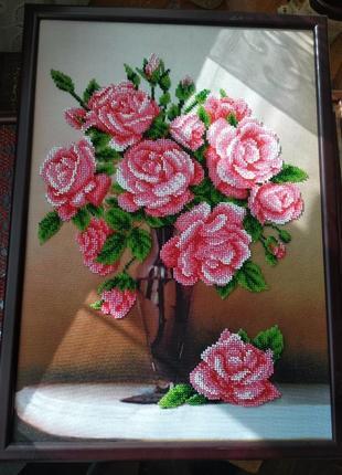 """Карина вышивка бисером """"розы"""""""