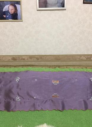 Скатерть-дорожка для декора, сервировки стола. размер 42*142см.