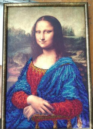 """Карина вышивка бисером """"мона лиза"""""""