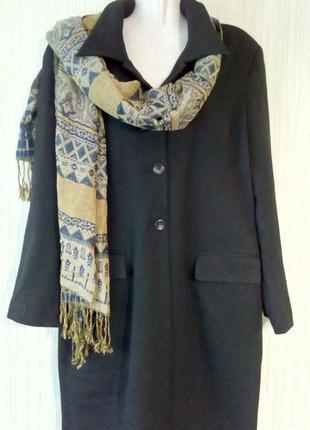 Пальто - пиджак бренд katy baker, черного цвета. раз.14, укр.50