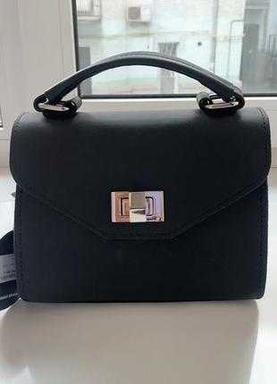 Женская классная сумка матовая натуральная плотная кожа udler