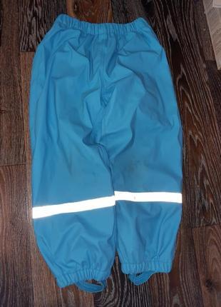Прорезиненные штаны грязепруф на флисе дождевик seasons
