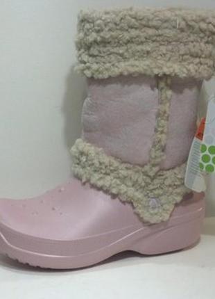 Фирменные сапоги ботинки crocs nadia boots j 3-5 оригинал, стелька 22.5 см.