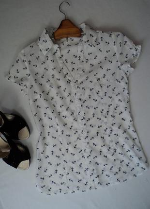 Хлопковая красивая рубашка - блузка, размер xs/s