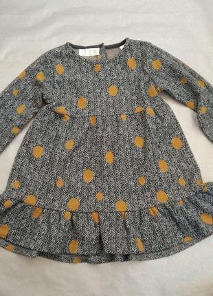 Стильна сукня в горошок для дівчинки