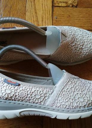 Женские кружевные мокасины rieker ecco geox clarks мокасини кроссовки кросівки кроси
