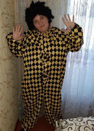 Карнавальный костюм арлекин, клоун