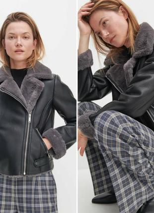Стильна дубленка куртка нова колекція в стиле zara reserved
