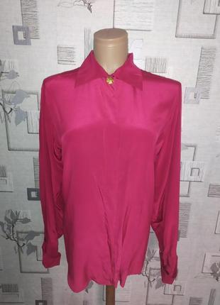 Шелковая блуза рубашка modissa