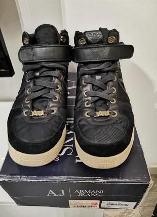 Продам мужские кеды ботинки armani jeans оригинал