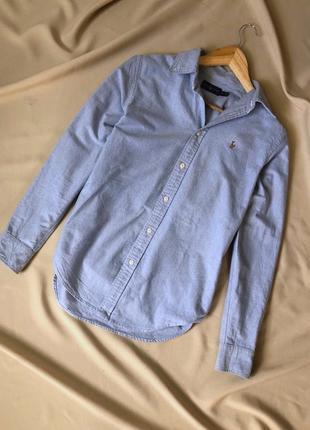 Рубашка в красивом оттенке с плотного материала от ralph lauren
