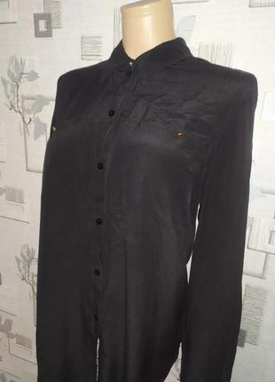 Шелковая блуза рубашка gerry weber. покупаете вещь на вторую 50% скидка!